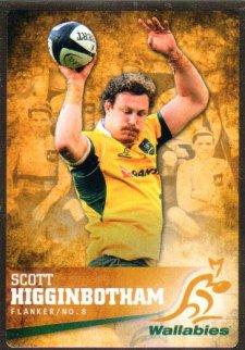 2016 Rugby Gold Parallel #14 Scott Higginbotham Wallabies