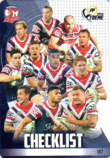 2016 NRL Xtreme Powerplay 12-Card Base Team Set Sydney Roosters