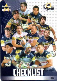 2016 NRL Xtreme Powerplay 12-Card Base Team Set North Queensland Cowboys