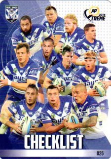 2016 NRL Xtreme Powerplay 12-Card Base Team Set Canterbury Bulldogs