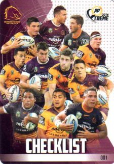 2016 NRL Xtreme Powerplay 12-Card Base Team Set Brisbane Broncos