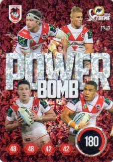 2016 NRL Xtreme Powerplay Power Bomb #PB13 St.George Dragons