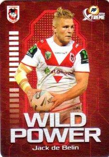 2016 NRL Xtreme Powerplay Wild Power #WP13 Jack De Belin Dragons