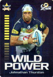 2016 NRL Xtreme Powerplay Wild Power #WP9 Johnathan Thurston Cowboys