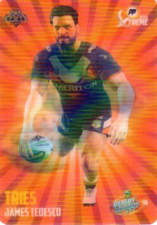 2016 NRL Xtreme Powerplay Skills 3D #SK16 James Tedesco Tigers
