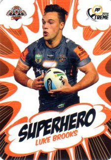 2016 NRL Xtreme Powerplay Superhero #SH32 Luke Brooks Tigers