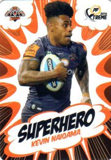 2016 NRL Xtreme Powerplay Superhero #SH31 Kevin Naiqama Tigers