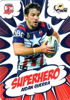 2016 NRL Xtreme Powerplay Superhero #SH27 Aiden Guerra Roosters