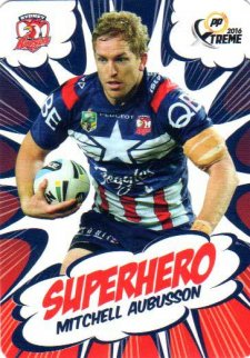 2016 NRL Xtreme Powerplay Superhero #SH28 Mitchell Aubusson Roosters