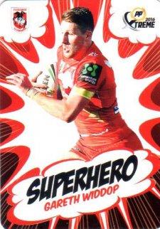 2016 NRL Xtreme Powerplay Superhero #SH26 Gareth Widdop Dragons