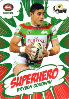 2016 NRL Xtreme Powerplay Superhero #SH24 Bryson Goodwin Rabbitohs