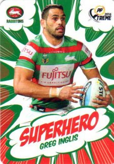 2016 NRL Xtreme Powerplay Superhero #SH23 Greg Inglis Rabbitohs