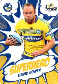 2016 NRL Xtreme Powerplay Superhero #SH20 David Gower Eels