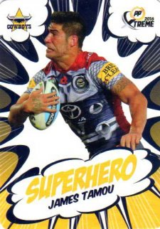 2016 NRL Xtreme Powerplay Superhero #SH18 James Tamou Cowboys