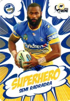 2016 NRL Xtreme Powerplay Superhero #SH19 Semi Radradra Eels