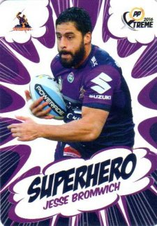 2016 NRL Xtreme Powerplay Superhero #SH14 Jesse Bromwich Storm