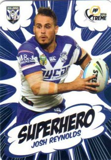 2016 NRL Xtreme Powerplay Superhero #SH5 Josh Reynolds Bulldogs