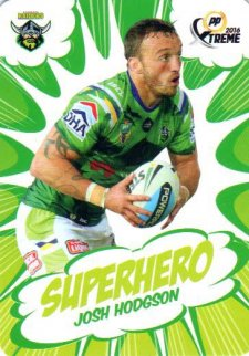 2016 NRL Xtreme Powerplay Superhero #SH4 Josh Hodgson Raiders