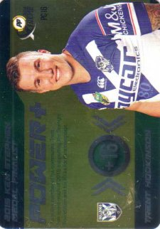 2016 NRL Xtreme Powerplay Power Card #PC16 Trent Hodkinson Bulldogs