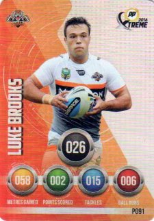 2016 NRL Xtreme Powerplay Parallel #P91 Luke Brooks Tigers