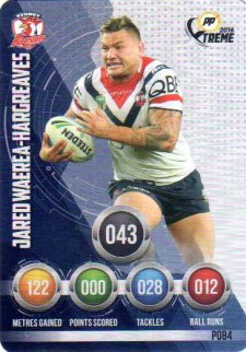 2016 NRL Xtreme Powerplay Parallel #P84 Jared Waerea-Hargreaves Roosters