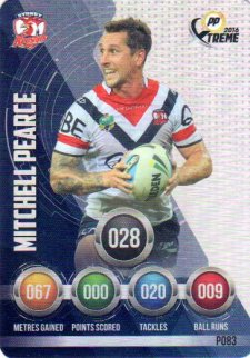 2016 NRL Xtreme Powerplay Parallel #P83 Mitchell Pearce Roosters
