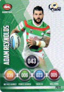 2016 NRL Xtreme Powerplay Parallel #P72 Adam Reynolds Rabbitohs