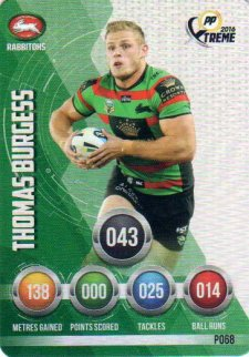 2016 NRL Xtreme Powerplay Parallel #P68 Thomas Burgess Rabbitohs