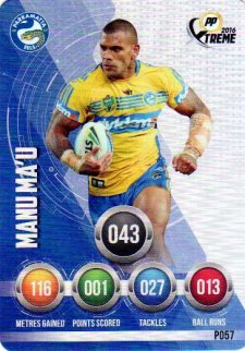 2016 NRL Xtreme Powerplay Parallel #P57 Manu Ma'u Eels