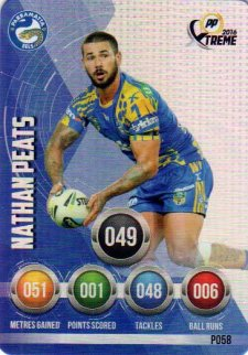 2016 NRL Xtreme Powerplay Parallel #P58 Nathan Peats Eels