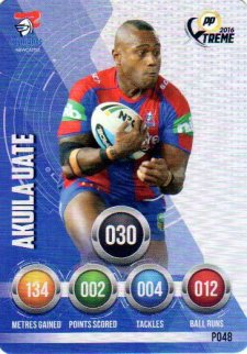 2016 NRL Xtreme Powerplay Parallel #P48 Akuila Uate Knights