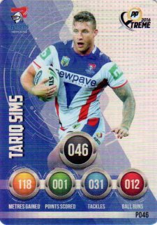 2016 NRL Xtreme Powerplay Parallel #P46 Tariq Sims Knights
