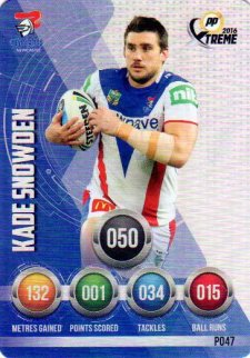 2016 NRL Xtreme Powerplay Parallel #P47 Kade Snowden Knights