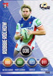 2016 NRL Xtreme Powerplay Parallel #P45 Robbie Rochow Knights