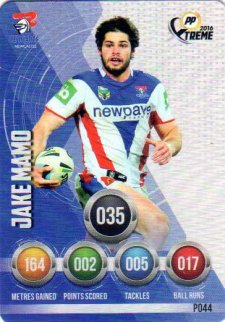 2016 NRL Xtreme Powerplay Parallel #P44 Jake Mamo Knights