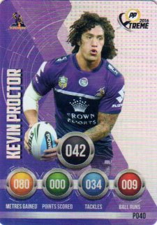 2016 NRL Xtreme Powerplay Parallel #P40 Kevin Proctor Storm