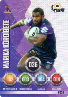 2016 NRL Xtreme Powerplay Parallel #P39 Marika Koroibete Storm