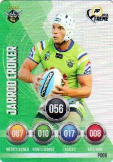 2016 NRL Xtreme Powerplay Parallel #P8 Jarrod Croker Raiders
