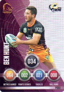 2016 NRL Xtreme Powerplay Parallel #P3 Ben Hunt Broncos