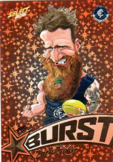 2016 AFL Footy Stars Starburst Caricatures #SB12 Zach Tuohy Blues