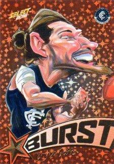 2016 AFL Footy Stars Starburst Caricatures #SB10 Bryce Gibbs Blues