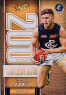 2016 AFL Footy Stars Milestone Games #MG8 Marc Murphy Blues