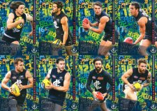 2016 AFL Footy Stars Hot Numbers 8-Card Team Set Carlton Blues