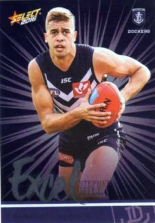 2016 AFL Footy Stars Excel Parallel #EP69 Stephen Hill Dockers