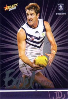 2016 AFL Footy Stars Excel Parallel #EP66 Michael Barlow Dockers