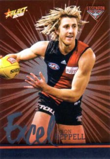 2016 AFL Footy Stars Excel Parallel #EP56 Dyson Heppell Bombers