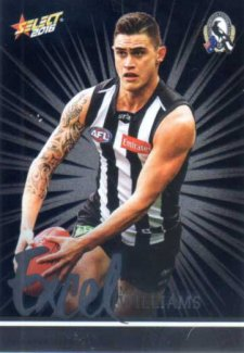 2016 AFL Footy Stars Excel Parallel #EP52 Marley Williams Magpies