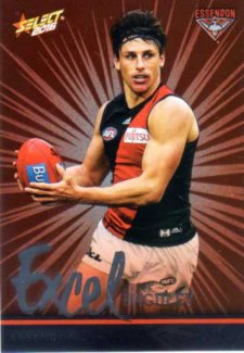 2016 AFL Footy Stars Excel Parallel #EP53 Mark Baguley Bombers