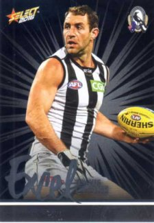 2016 AFL Footy Stars Excel Parallel #EP43 Travis Cloke Magpies