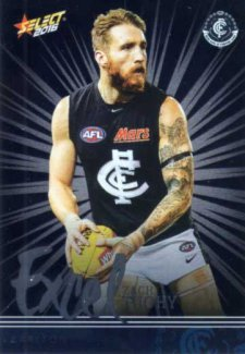 2016 AFL Footy Stars Excel Parallel #EP40 Zach Tuohy Blues